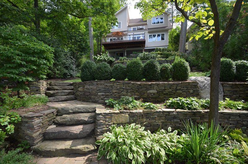 Building a Grade to Accommodate Landscape Erosion - Tode Landscape
