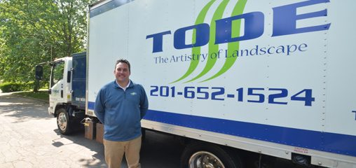 Mike Tode in Front of Landscaping Truck