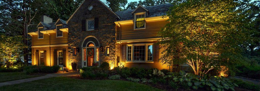 Landscape Lighting Design Highlights Beautiful Home